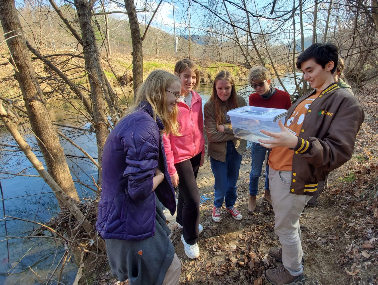 Young Naturalists explore the river