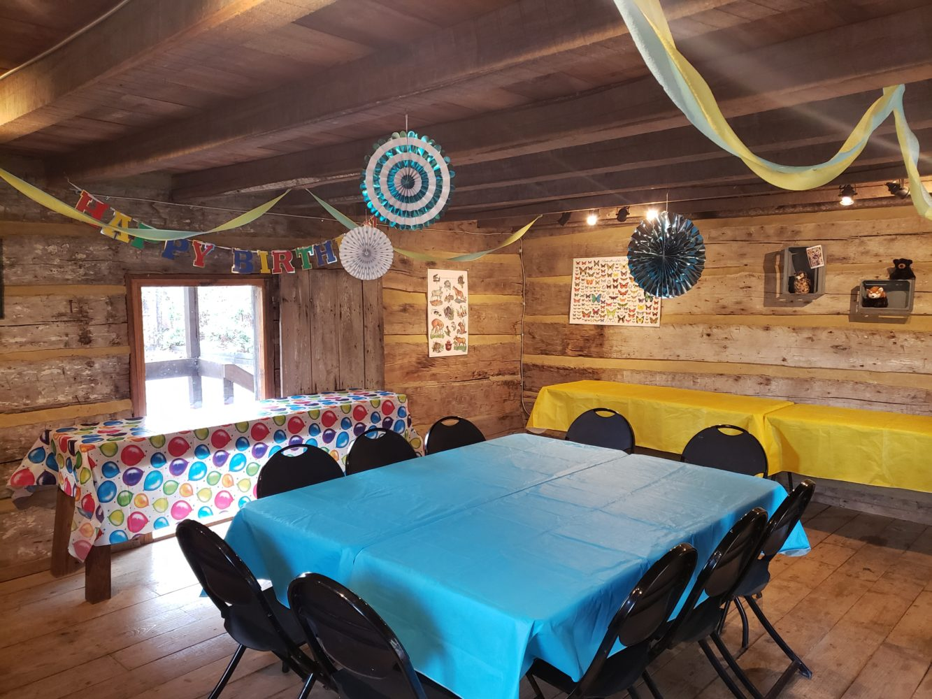 Decorated Birthday Party Cabin