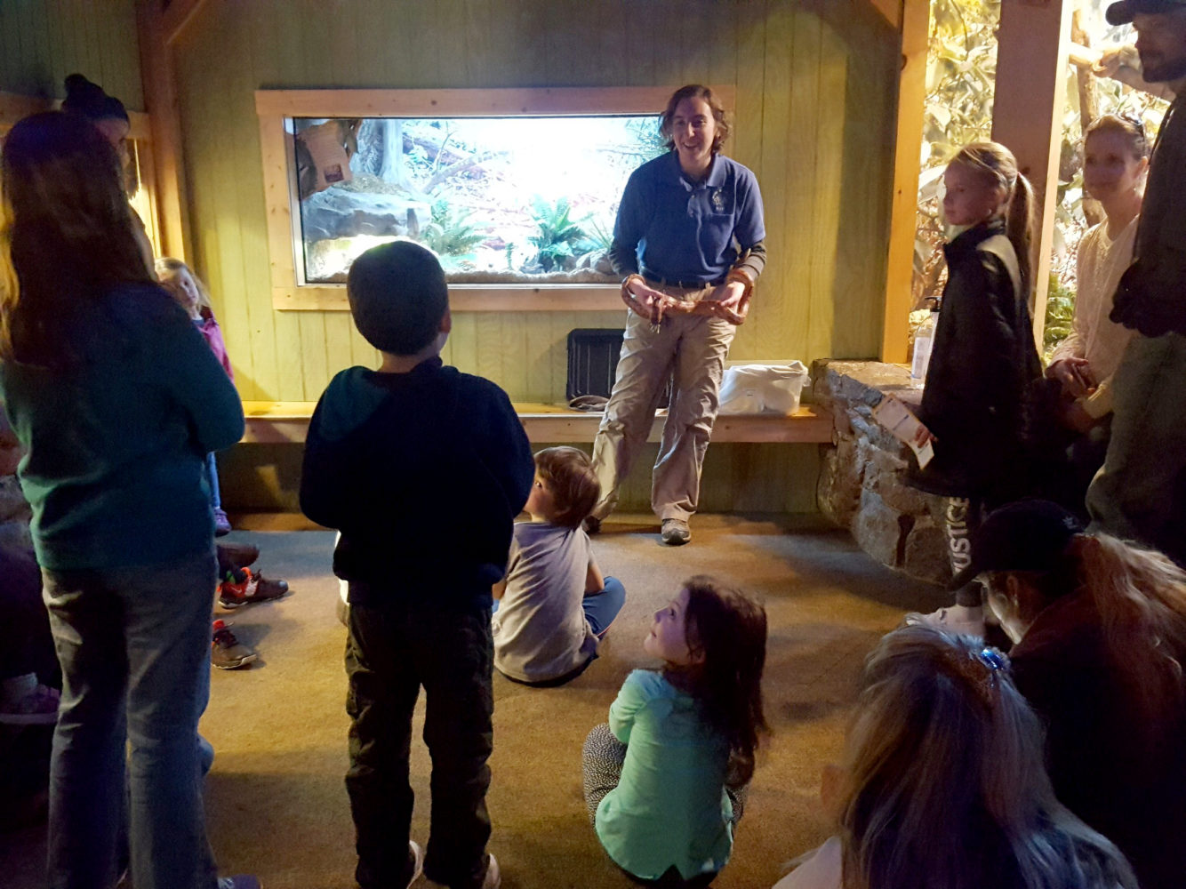 Nature Center staff during an education program