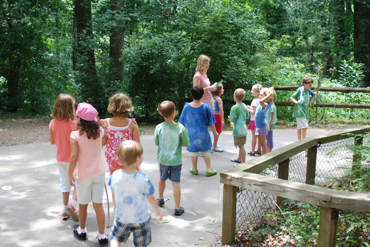Children during Summer Camp at the Nature Center