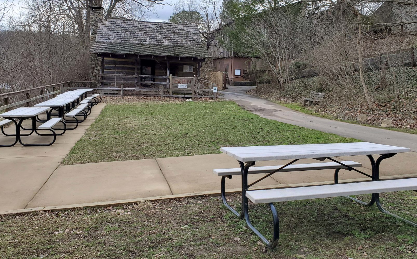 Picnic Area at the Nature Center.