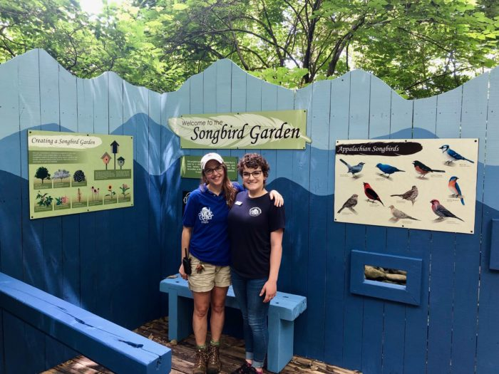 The Songbird Garden at the Nature Center.